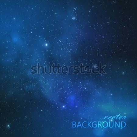 abstract vector background with night sky and stars. illustration of outer space. Milky Way Stock photo © maximmmmum