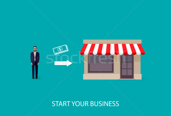 Wektora ilustracja działalności biznesmen własny Zdjęcia stock © maximmmmum