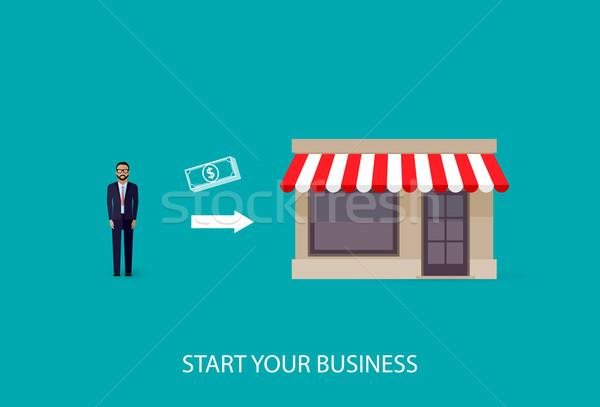 вектора иллюстрация бизнеса бизнесмен собственный Сток-фото © maximmmmum
