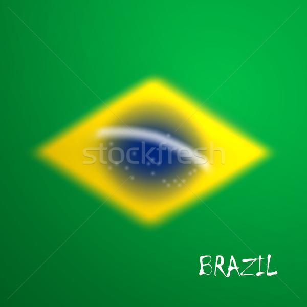 Foto stock: Vetor · turva · Brasil · bandeira · projeto · site