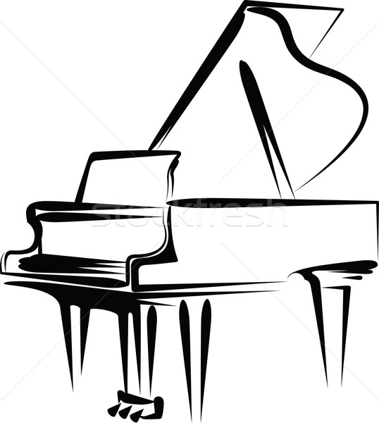 Piano illustration instrument croquis vecteur Photo stock © maximmmmum