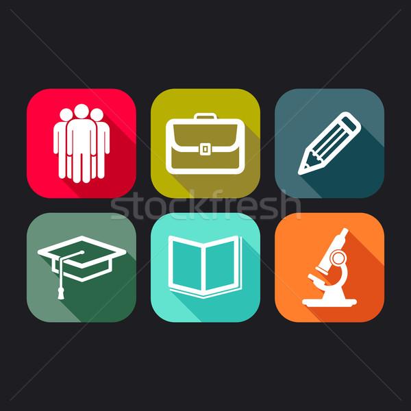 Stockfoto: Iconen · web · mobiele · toepassingen · business · onderwijs