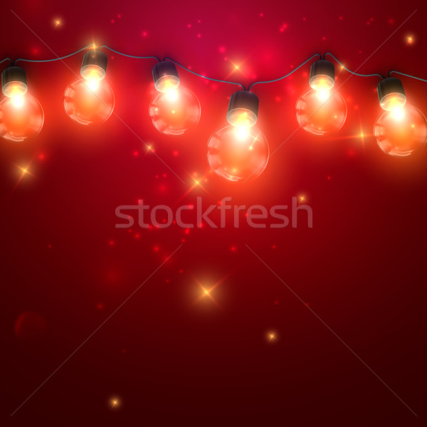 Luminous Electric Garland Stock photo © maximmmmum