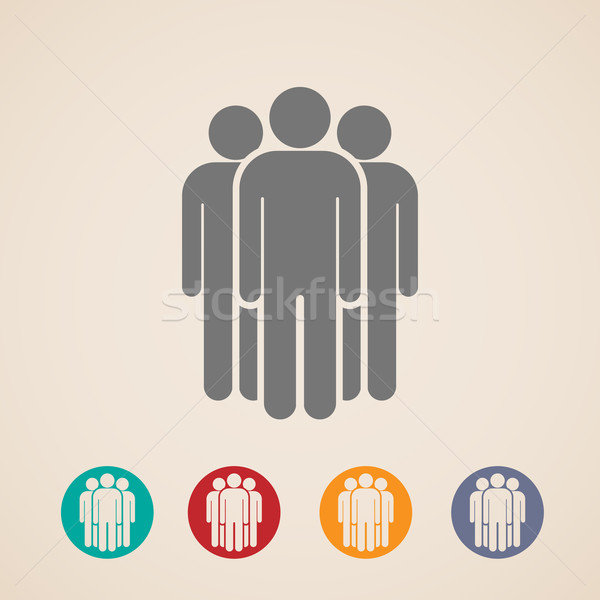 vector icons of people group  Stock photo © maximmmmum