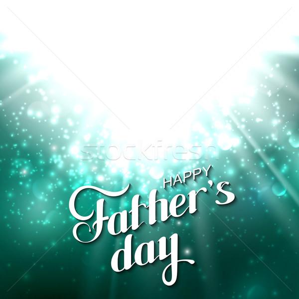 Día de padres feliz retro etiqueta luz Foto stock © maximmmmum