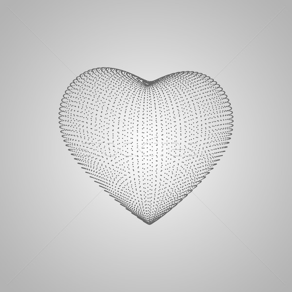 3D heart shape Stock photo © maximmmmum