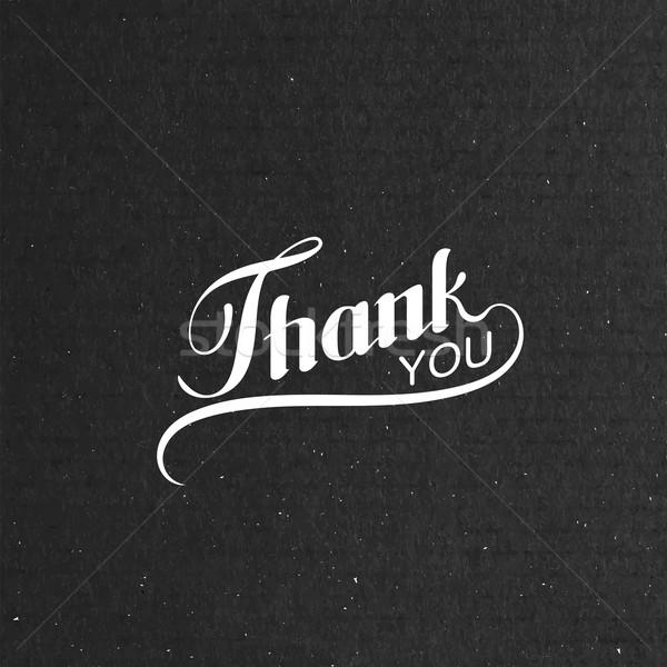 Thank You retro label Stock photo © maximmmmum