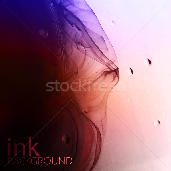 abstract vector background of multicolored fluid ink swirling in Stock photo © maximmmmum