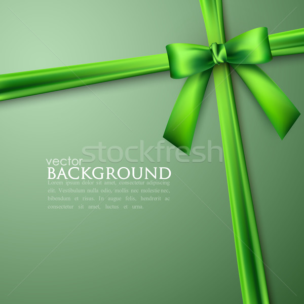 elegant background with green bow Stock photo © maximmmmum
