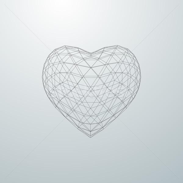 3D формы сердца счастливым частица массив Сток-фото © maximmmmum