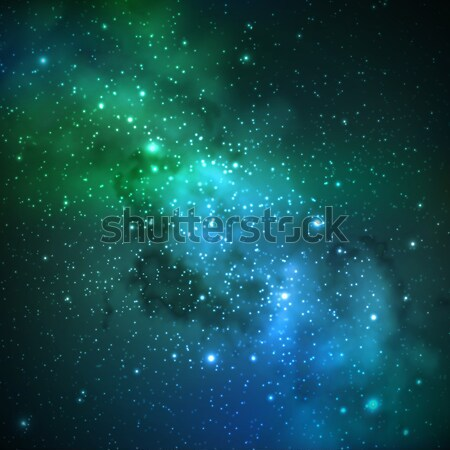 abstract vector background with night sky and stars. illustration of outer space and Milky Way Stock photo © maximmmmum