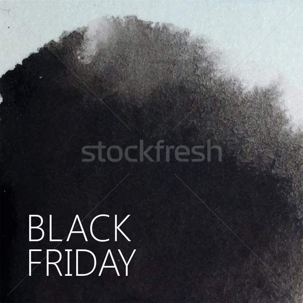 вектора аннотация акварель дизайна черная пятница Сток-фото © maximmmmum