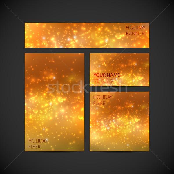 Ingesteld vector corporate identiteit oranje vakantie Stockfoto © maximmmmum