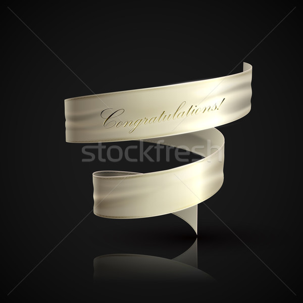 vector illustration of white textile ribbon.  Stock photo © maximmmmum