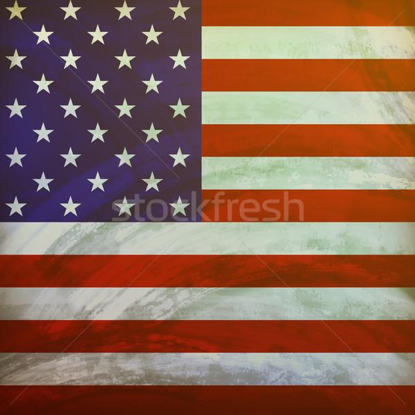 Amerika Birleşik Devletleri Amerika bayrak grunge texture doku Yıldız Stok fotoğraf © maximmmmum