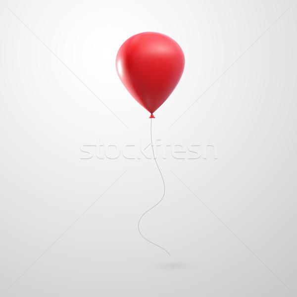 illustration of flying realistic glossy balloon Stock photo © maximmmmum