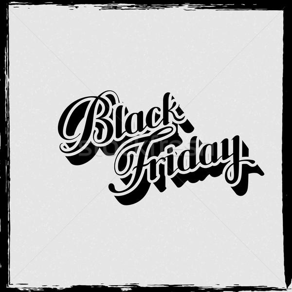 Black friday vendita etichetta cartone texture Foto d'archivio © maximmmmum