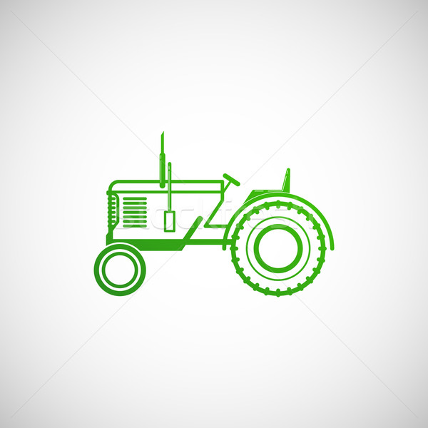 vector illustration with tractor. farm concept  Stock photo © maximmmmum