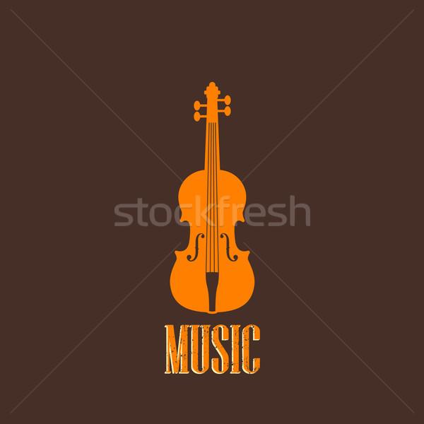 illustration with a violin Stock photo © maximmmmum
