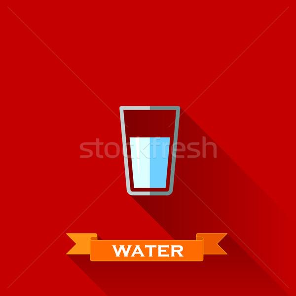 ガラス 水 デザイン スタイル 長い 影 ストックフォト © maximmmmum