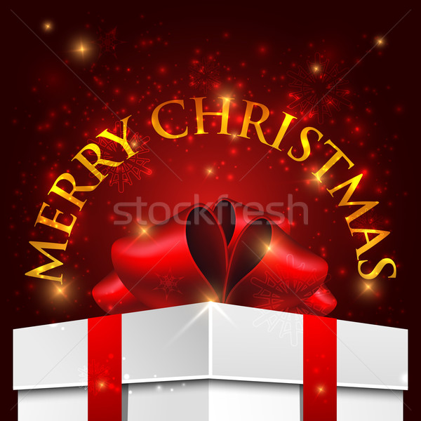holiday Christmas background with gift box  Stock photo © maximmmmum