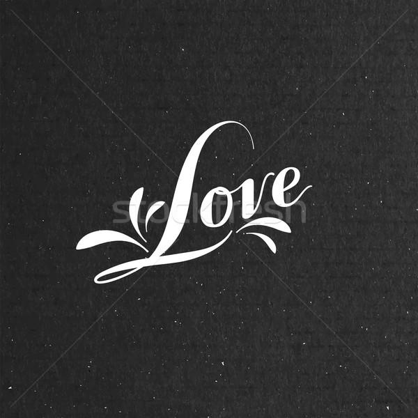 Love retro label Stock photo © maximmmmum