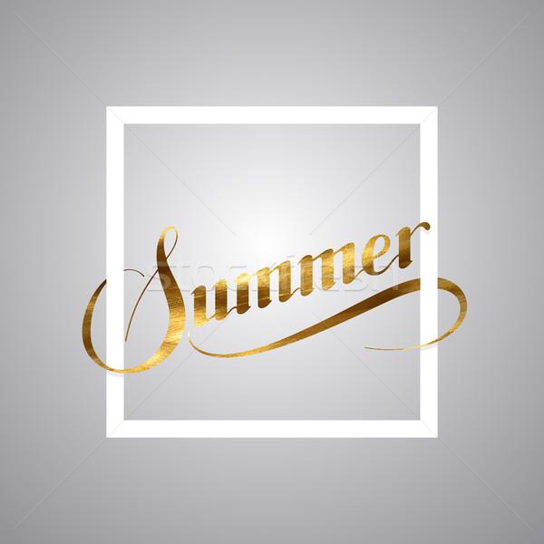 Summer retro label Stock photo © maximmmmum