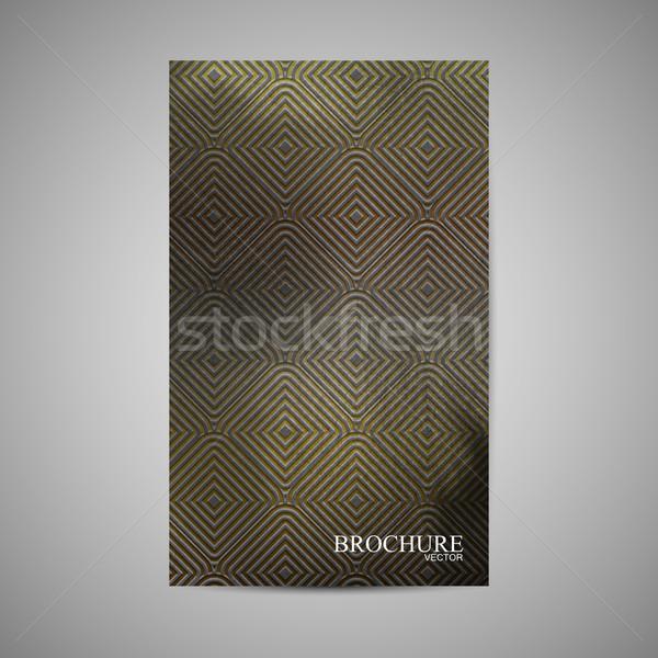 Vetor folheto modelo dourado padrão Foto stock © maximmmmum