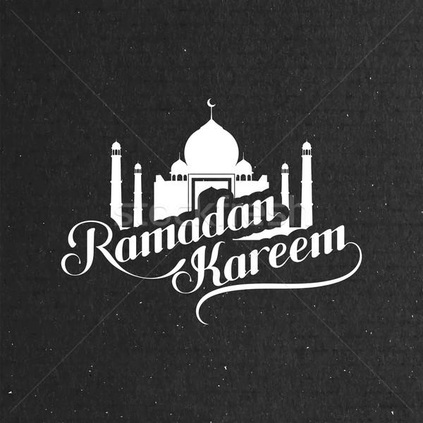 handwritten Ramadan Kareem retro label Stock photo © maximmmmum