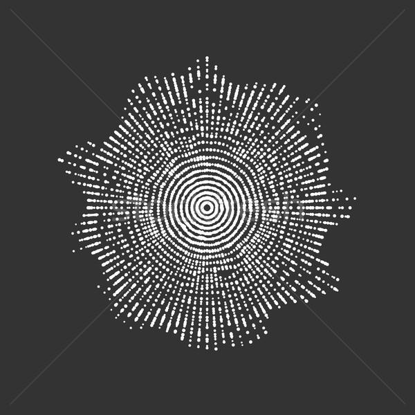 аннотация вектора форма частицы массив футуристический Сток-фото © maximmmmum