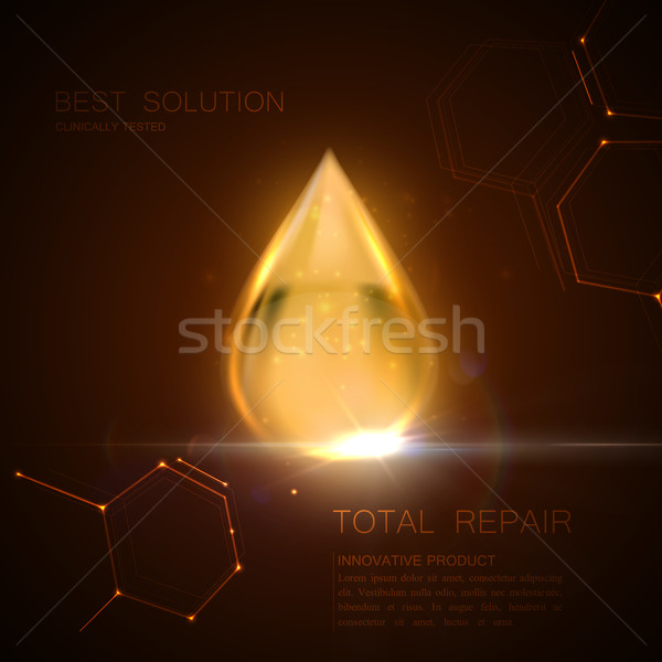 Collagen serum or oil essence droplet Stock photo © maximmmmum