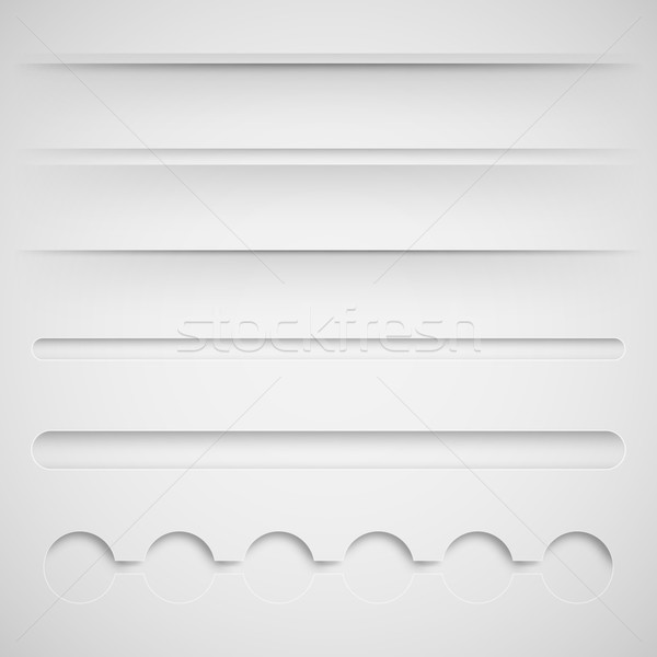 set of vector dividers for web design  Stock photo © maximmmmum