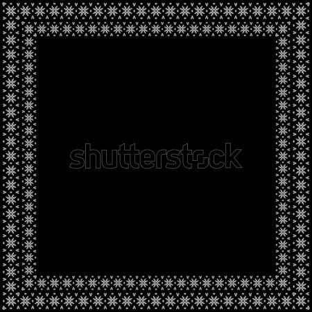 Stockfoto: Vector · decoratief · frame · abstract · pen