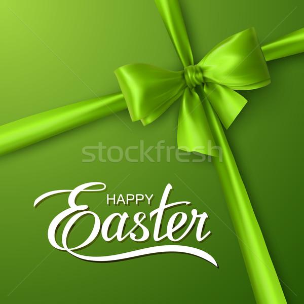 Tatil dini Paskalya iyi paskalyalar yeşil yay Stok fotoğraf © maximmmmum