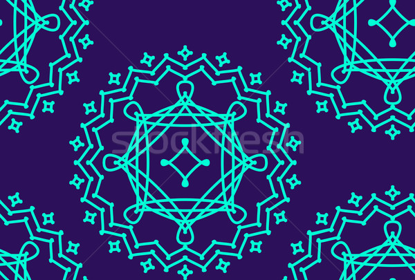 abstract vector seamless pattern with graceful lace lineart ornament Stock photo © maximmmmum