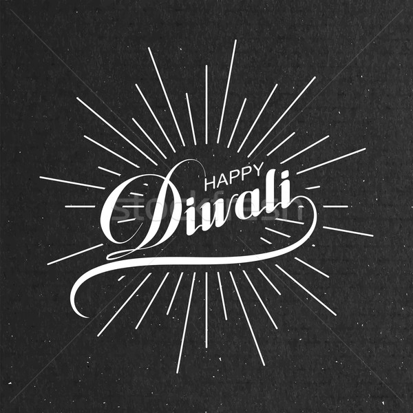 Diwali vector illustration. Stock photo © maximmmmum
