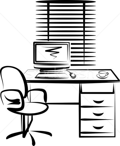 実例 事務 場所 作業 マウス キーボード ストックフォト © maximmmmum