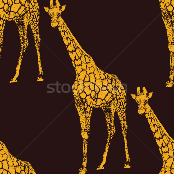 vector  illustration of a giraffe. seamless animal pattern or ba Stock photo © maximmmmum