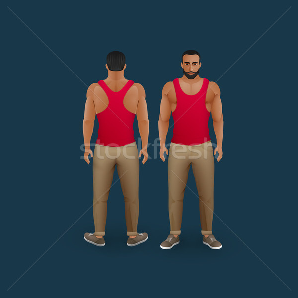 Mannen pants vector mode illustratie Stockfoto © maximmmmum