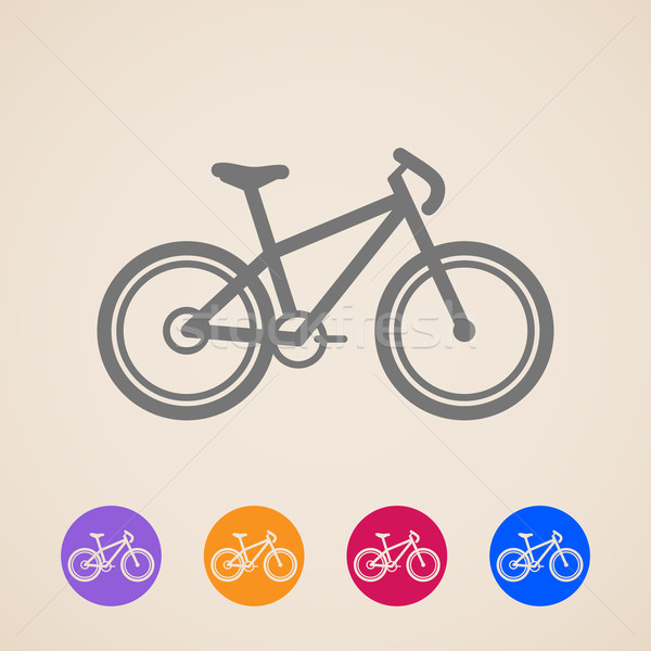 vector bike icons  Stock photo © maximmmmum
