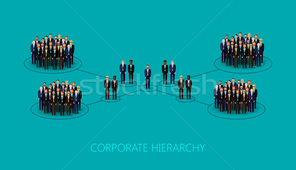 Vector illustratie corporate hiërarchie structuur menigte Stockfoto © maximmmmum