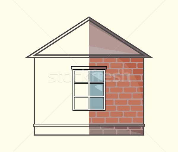 Concept chalet projet vecteur construction for Projet maison construction