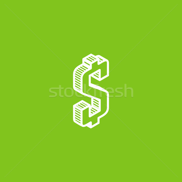 Stock photo: isometric vector icon with dollar sign