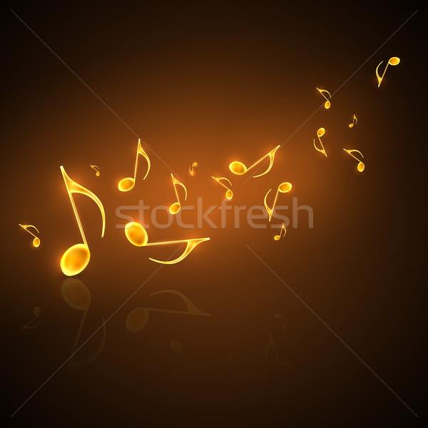 Musical dorado notas musicales arte signo Foto stock © maximmmmum