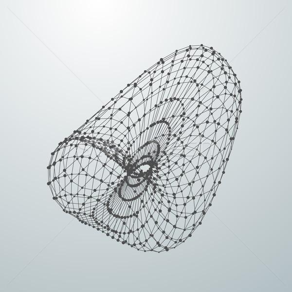 Abstrato vetor forma partículas 3D Foto stock © maximmmmum