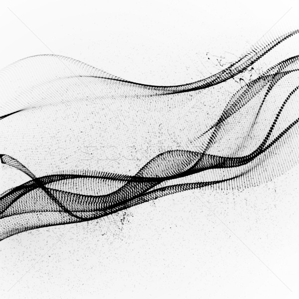 3D чернила стилизованный цифровой волна аннотация Сток-фото © maximmmmum