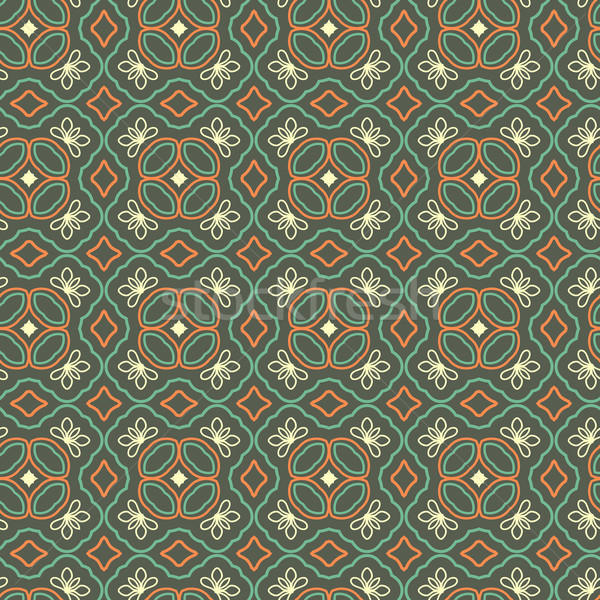 Seamless Floral Ethnic Pattern Stock photo © maximmmmum