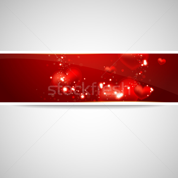 Valentine's Day background with hearts Stock photo © maximmmmum