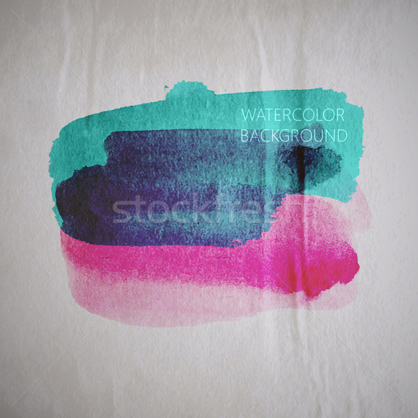 vector illustration of multicolored watercolor stain or blotch o Stock photo © maximmmmum