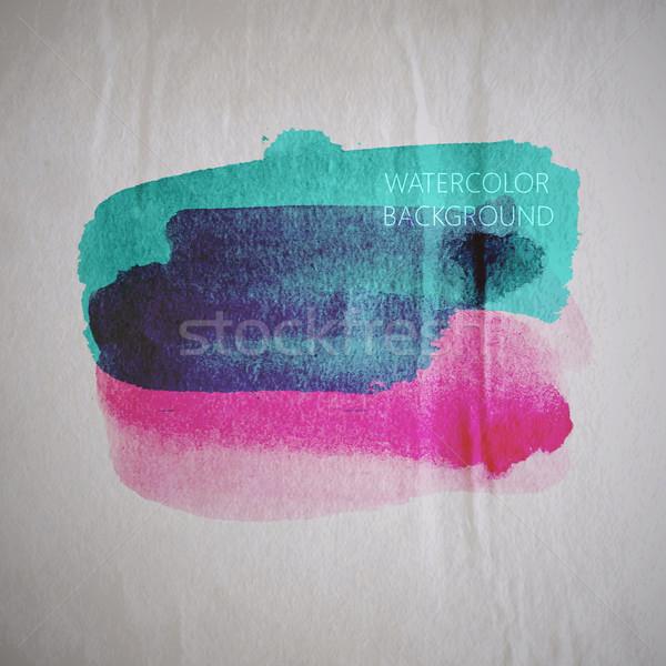 Suluboya leke eski buruşuk kâğıt Stok fotoğraf © maximmmmum